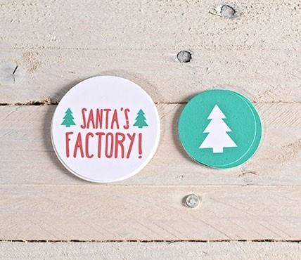 Kit de etiquetas abeto + Santa's