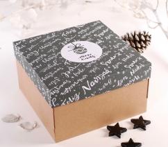 Caja con tapa navideña
