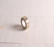 Grey washi tape with gold pattern