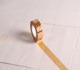 Washi tape zig zag dorado