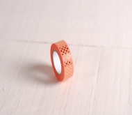 Coral washi tape with gold triangles