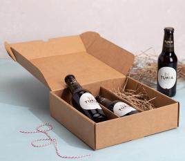 Flache Box mit Bierhalter